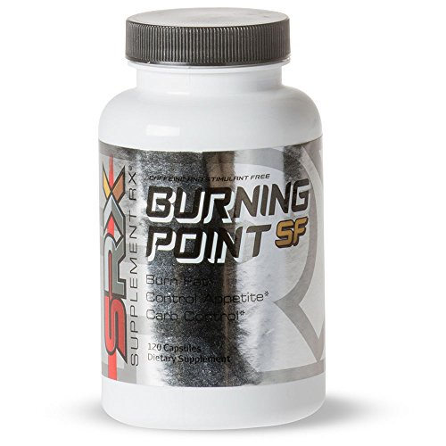 Supplement Rx (SRX)- Burning Point SF Fat Burner, Caffeine Stimulant Free, Non Stimulant, Lipotropic, Thermogenic, Weight Loss Supplement, Appetite Suppressant, Fat Blocker, 120 Capsules