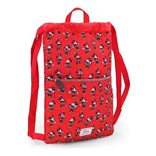 Karactermania Disney Classic Minnie Cheerful Bolsa de Cuerdas para El Gimnasio, 42 cm, Rojo