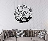 Mur Pâte Murale Plum Motif Autocollant Salon Salon Décoration De Couloir Sculpté À Partir D'autocollant Mural Imperméable Collant 35x42cm