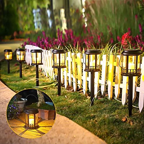 Farol Solar Exterior Jardin, Ulmisfee Luces de Linterna Solar 6 pcs, Luz...