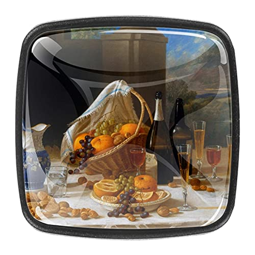 Tiradores cajón cristal 4 piezas perillas gabinete,comida ,para puerta cocina escritorio tocador