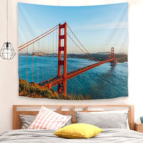 Hermoso tapiz de puente Golden Gate para colgar en la pared, decoración para dormitorio, sala de estar (100 x 150 cm)