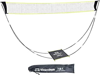 Aneony Portable Badminton Net Set with Stand Carry Bag, Foldable Tennis Volleyball Net for Indoor Outdoor Court Sports, Ea...