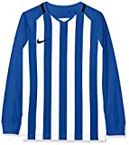 Nike Kinder Striped Division III Langarm Trikot, Mehrfarbig (Royal Blue/White/Black), S