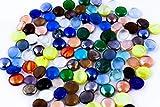 ARSUK Ciottoli di vetro per acquario e scopo decorativo (200 pezzi - vari colori - 1 kg)...