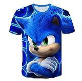 AMCYT Camiseta Sonic The Hedgehog unisex para niños con dibujos animados en 3D, unisex (Sonic 7,7T)