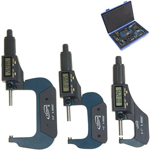 "iGaging 0-3"" Digital Electronic Outside Micrometer Set"