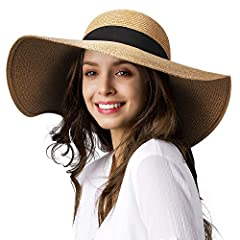 Summer Straw hat: Made of premium paper straw. Breathable and comfortable. Tightly woven for the quality and durability Sun UV Protection Hat: Strong Anti-uv Function, UPF 50+; Floppy wide brim provides a perfect shade to your face, help protecting f...