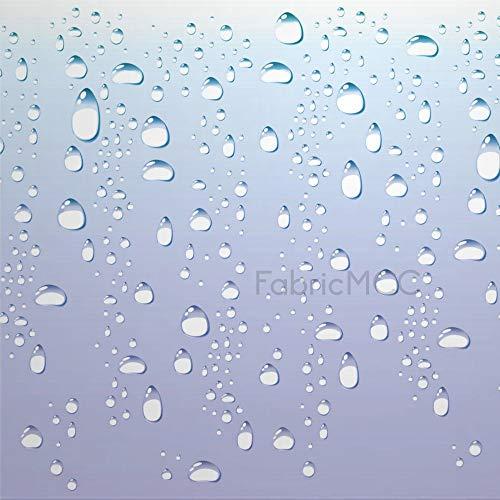 daoyiqi Juego de pegatinas decorativas para azulejos, gotas de lluvia digitales de 30,5 x 30,5 cm, adhesivo de vinilo para piso, 12 unidades, resistente al agua, para decoración de cocina, hogar