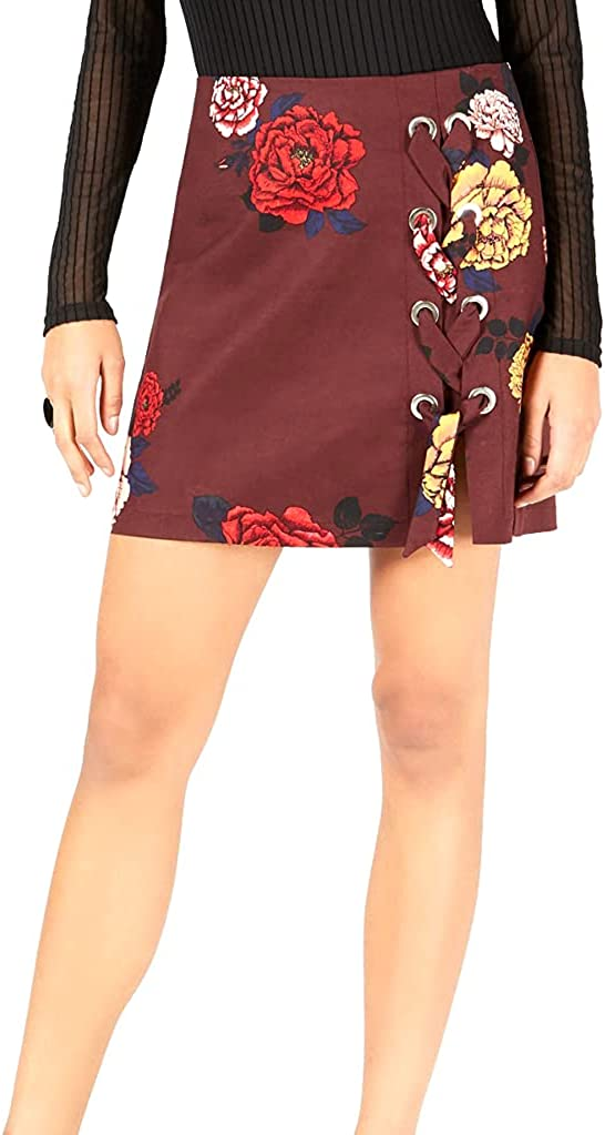 Project 28 Nyc Women's Printed Lace-Up Mini Skirt