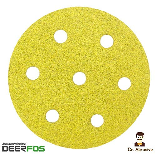 Deerfos - Dischi abrasivi da 90 mm, per Festool Rotex RO 90 DX, confezione da 50, P80