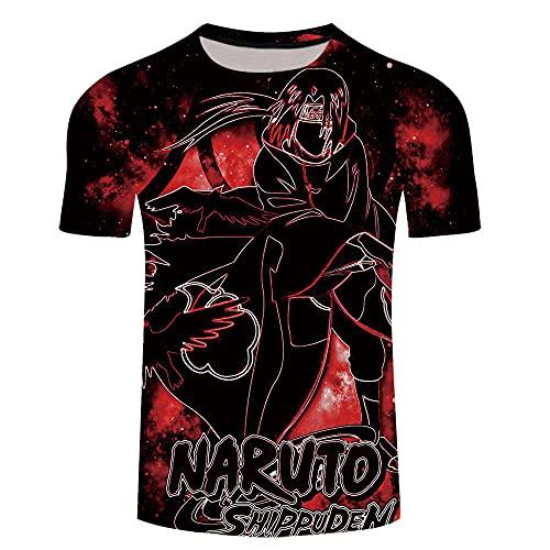 Divertidas Manga Corta T Shirt Funny,Dibujos Animados de Manga Corta Naruto Serie de Camiseta de hombre-Xt272_Grande