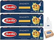 Barilla Pasta, Spaghetti, 16 Ounce, Pack of 3 (Bay Area Marketplace Tote Bag included with Purchase)