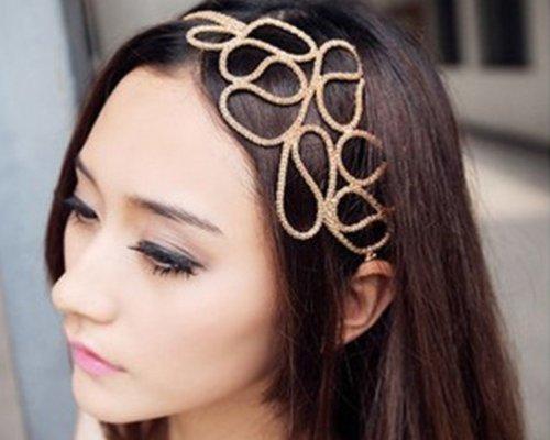BOOLAVARD évider tressé or Bandeau extensible Accessoires cheveux Gossip Girl