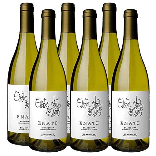 Vino Blanco Enate Chardonnay Fermentado en Barrica de 75 cl - D.O. Somontano - Bodegas Enate (Pack de 6 botellas)
