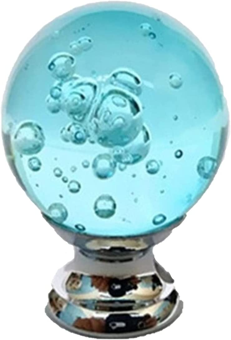 ZHANGM 5pcs Crystal Glass Ball Handles Cabinet Pul Washington Mall excellence Door Wardrobe