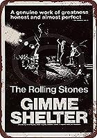 なまけ者雑貨屋 メタルサイン Rolling Stones Gimme Shelter ヴィンテージ風 ライセンスプレート メタルプレート ブリキ 看板 アンティーク レトロ