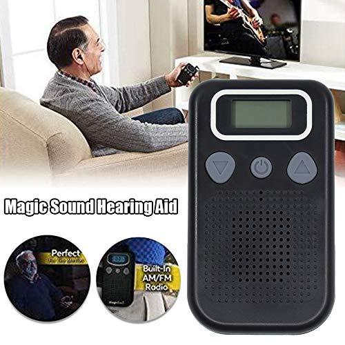 Mcottage Oído Sonido Amplificador Oído Ayuda para los Ancianos Cinta Regulable Tono Oído Cuidado Dispositivos