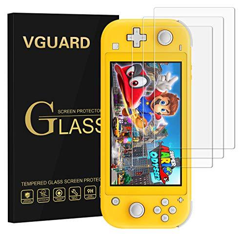 VGUARD〔3 Piezas〕Protector de Pantalla para Nintendo Switch Lite, Cristal Vidrio Templado Premium