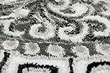 Traum Moderner Teppich Designer Teppich Orientteppich mit Glitzergarn Wohnzimmer Teppich mit Bordüre und Kreismuster in Grau Anthrazit Creme Größe 120x160 cm - 6
