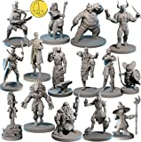 15 Character & NPC Miniatures for DND 28mm I for D&D Miniatures & Dungeon and Dragons Minis for D and D Tabletop RPG | Campaign Setting