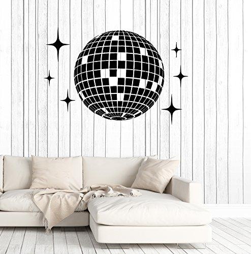 Vinyl Wall Decal Disco Ball Dance Floor Studio Nightclub Party Stickers Mural Large Decor (ig4975) Yellow