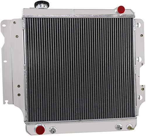 Tiziri 87-06 Jeep Wrangler Radiator, 3 Row Core All Aluminum Radiator for Jeep Wrangler YJ TJ 1987-2006 88 89 90 91 92 93 94 95 96 97 98 99 00 01 02 03 04 05 2.4L 2.5L 4.0L 4.2L, L4 L6