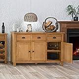 The Furniture Outlet Rutland Oak 3 Door Sideboard