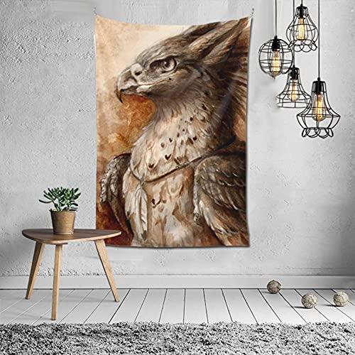 N Jas Mitologico Dibujos Grifos: Tapiz de decoración de pared, manta para decoración de ventanas, decoración de interiores de moda, popular mural (152 x 101 cm)