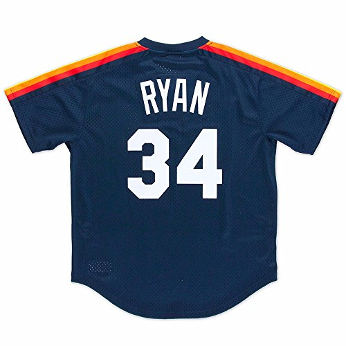 Nolan Ryan 1988 Houston Astros Dark Navy Authentic Mitchell & Ness BP Mesh Jersey (M/40)