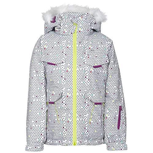 Trespass Unisex-Kinder Hickory Skiing Jacke, Bianco, 3 anni