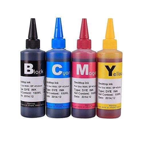 INKOA (TM) 4x100ml Premium ink for 126 T126 CIS/CISS and refillable cartridges