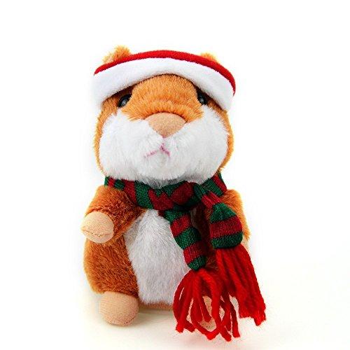 Color You Sprechende Hamster, Plüschhamster Kuscheltier Plüschtier Spielzeug Talking Toy Hamster Adorable interessante Kinder Plüsch Spielzeug 14,5cm (Braun)