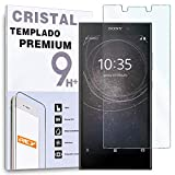 REY Protector de Pantalla para Sony Xperia L2, Cristal Vidrio Templado Premium