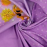Stoffe Schulz | Baumwolljersey Panel Biene Maja, lila |