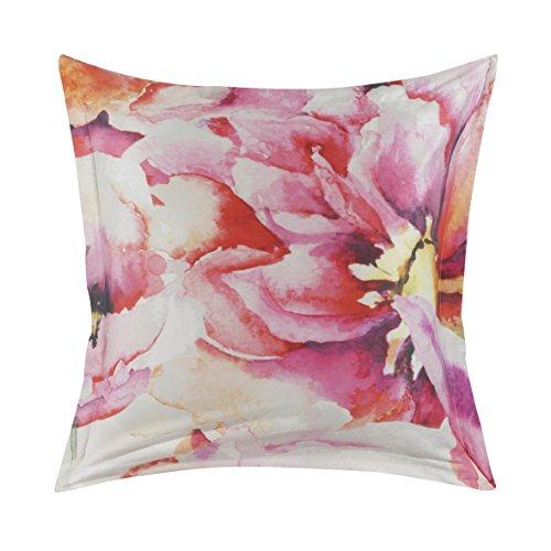 Essix - Taie d'oreiller Floraison Satin de coton Multicolore 64 x 64 cm