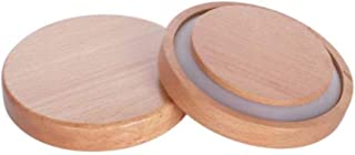 UPKOCH 2pcs Wooden Food Storage Jar Lid Natural Wood Canister Lid Bottle Caps with Silicone Sealed Ring