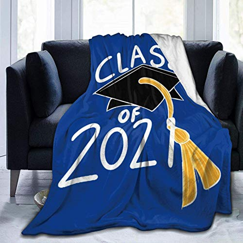 959 Custom Personalized Graduation Senior Blanket Soft Air Conditioning Quilt Sofa Couch Bed Throw for Kids Adults 60'x50'