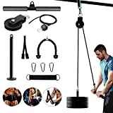 Fitness-LAT and Lift Pulley System Gym - Cable Machine Attachment with Loading Pin for Triceps...