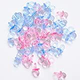 NiuZaiz 144 Pcs Mini Acrylic Pacifier Beads Table Scatter Confetti for Parties (Pink Blue Mixed)