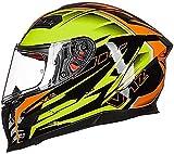 Zjcpow Certificada por el Dot Casco Casco de Motocicleta ciclomotor Crucero del Interruptor de la Cubierta Completa del Casco Modular Casco de L = 57~58 CM (Color: A, Tamaño: XL = 59-61CM) xuwuhz