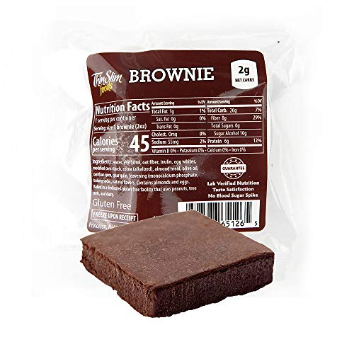 ThinSlim Foods Low Carb Brownies - Chocolate, Low Calorie 12 Pack