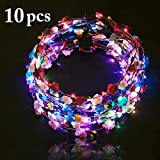 Joyibay Led Blumenkranz, 10PCS Garland Stirnband Dekorative Leucht Flower Crown Blumenkranz für...