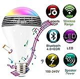 Yjmgrowing Glühlampen des Bluetooth-Sprecher-LED intelligente RGB-Farbe, die LED-Birnen-Lampen-Beleuchtung mit kontrollierter App, Partei-Zuhause-Halloween-Weihnachtsdekorations-Birnen ändert