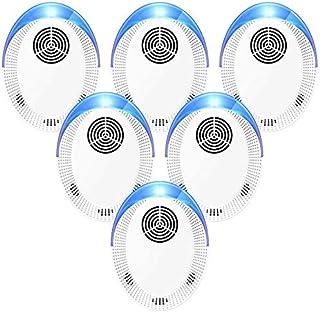 Bocianelli Ultrasonic Pest Repeller 6 Pack, 2020 Pest Repellent, Pest Control Set of Electronic Plug in Indoor for Pests