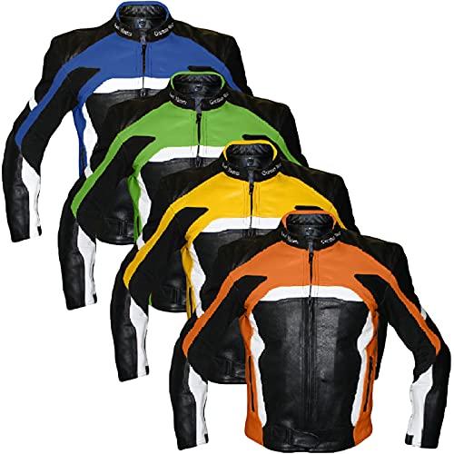 German Wear piel moto chaqueta piel de vacuno Chaqueta de Motorista