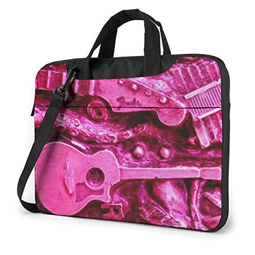 Laptop Messenger Laptop Bag Retro Pink Metal Guitarra eléctrica Bolso Bandolera Maletín...
