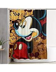 ミッキーマウス シャワーカーテン 高級 防カビ 防水 速乾 取り付け簡単 150x180cm