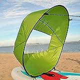 "Crovida 42 "" Kayak Wind Sail, Paddle Board Sail with Transparent View Window, Foldable Kayak Sail Kit for kayaks, canoes, inflatables, tandems, expedition boats. (Green)"