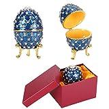 Huevo esmaltado de colores ricos y duraderos, forma de huevo, decoración del hogar, manualidades, joyería, caja de baratijas, elegantes amigos para mujeres, regalos para el hogar